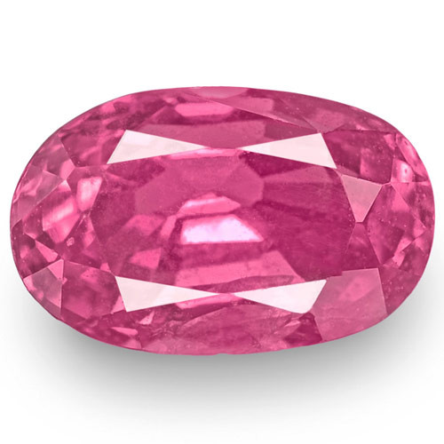 IGI Certified Madagascar Pink Sapphire, 2.17 Carats, Rich Pink Oval