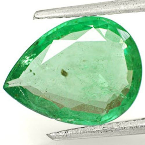 Zambia Emerald, 3.15 Carats, Lustrous Green Pear