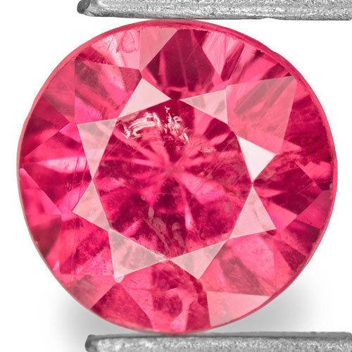 Tanzania Ruby, 0.78 Carats, Fiery Pinkish Red Round