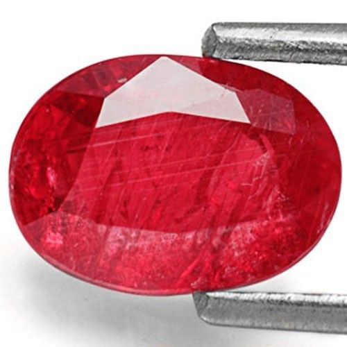 Mozambique Ruby, 1.90 Carats, Pinkish Red Oval