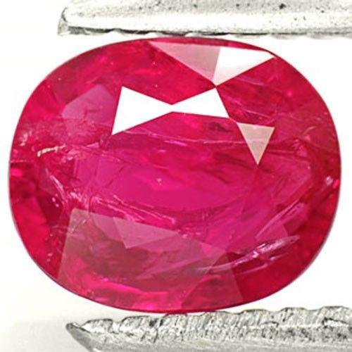 Burma Ruby, 1.07 Carats, Pinkish Red Oval
