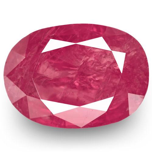 IGI Certified Burma Ruby, 2.78 Carats, Intense Pinkish Red Oval