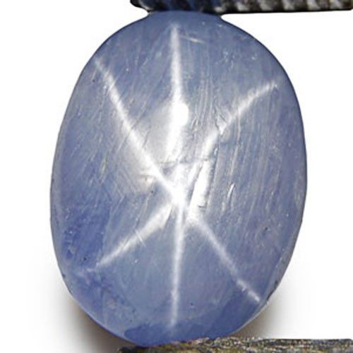 Burma Blue Star Sapphire, 11.82 Carats, Light Blue Oval