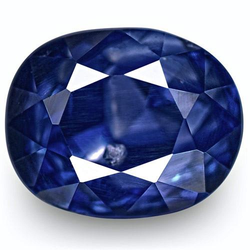 IGI Certified Kashmir Blue Sapphire, 1.87 Carats, Deep Royal Blue Oval