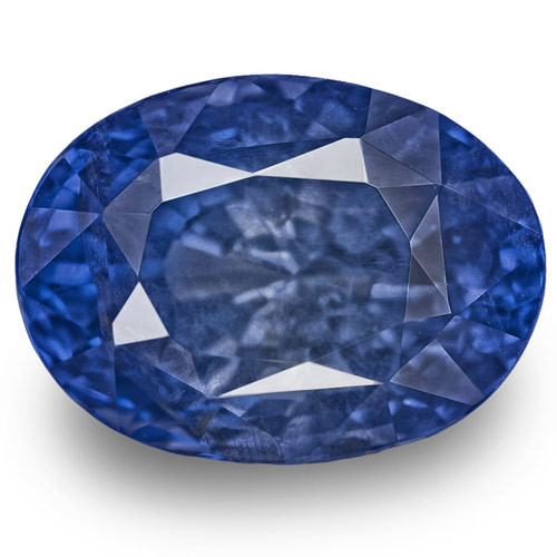 GRS Certified Madagascar Blue Sapphire, 5.23 Carats, Royal Blue Oval