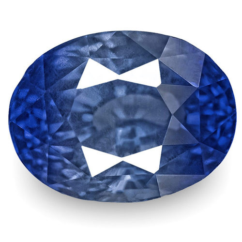 IGI Certified Burma Blue Sapphire, 3.06 Carats, Lively Intense Blue Oval