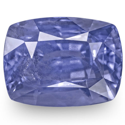 GRS Certified Sri Lanka Blue Sapphire, 7.61 Carats, Intense Blue Cushion