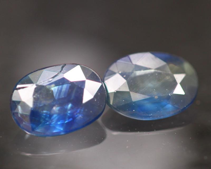Sapphire 1.89Ct Natural Blue Sapphire Pair B1206