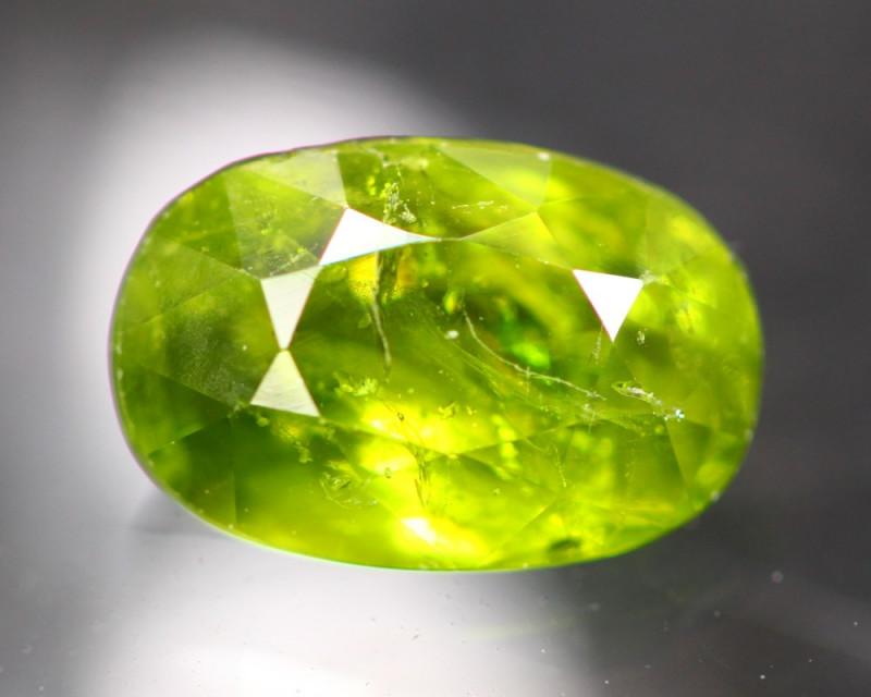 Grossular 3.17Ct Natural Green Grossular Garnet C1201