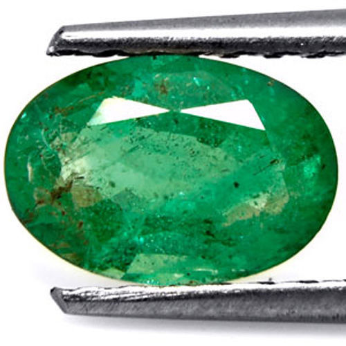Zambia Emerald, 1.08 Carats, Dark Green Oval