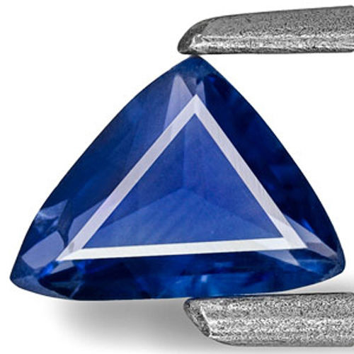 Madagascar Blue Sapphire, 0.35 Carats, Velvety Deep Blue Trilliant
