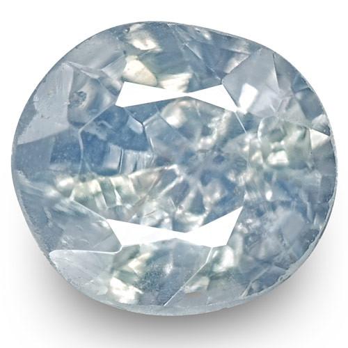 GIA Certified Kashmir Blue Sapphire, 0.73 Carats, Velvety Blue Oval