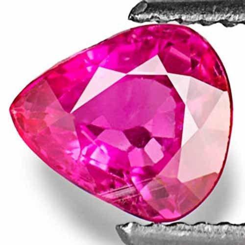 IGI Certified Burma Ruby, 1.05 Carats, Fiery Pinkish Red Pear