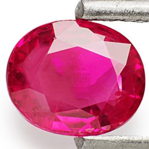 IGI Certified Burma Ruby, 0.64 Carats, Intense Pinkish Red Oval