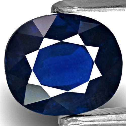 GRS Certified Thailand Blue Sapphire, 2.54 Carats, Dark Blue Oval