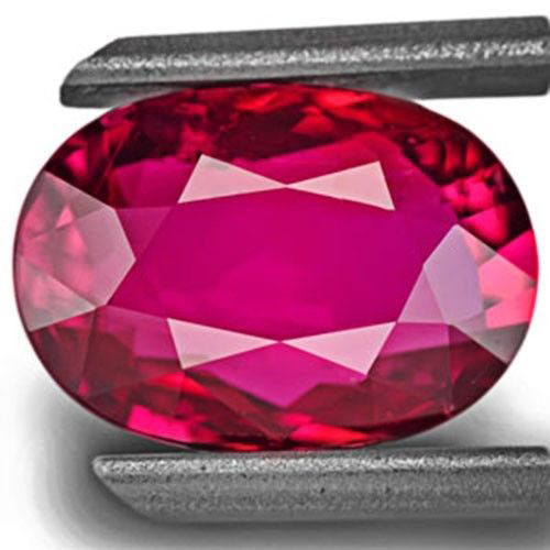 GRS Certified Mozambique Ruby, 2.55 Carats, Intense Red Oval
