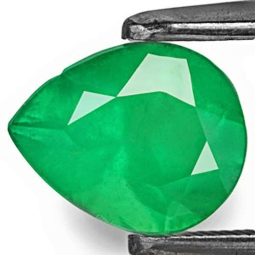 Colombia Emerald, 1.31 Carats, Intense Green Pear
