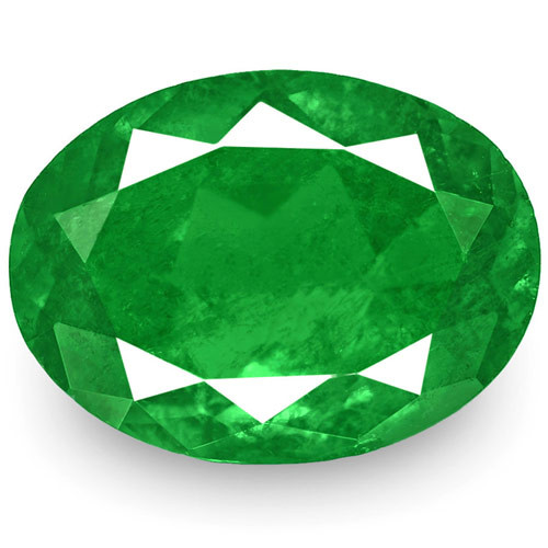 Colombia Emerald, 0.92 Carats, Deep Green Oval