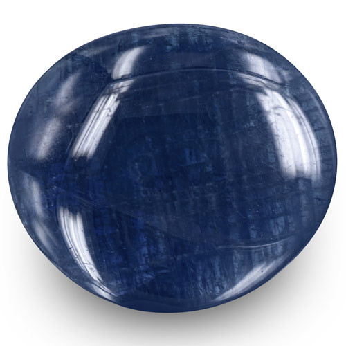 GIA Certified Burma Blue Sapphire, 34.32 Carats, Dark Blue Oval
