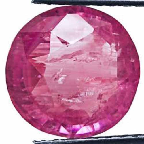 GII Certified Madagascar Ruby, 6.26 Carats, Intense Pink Round