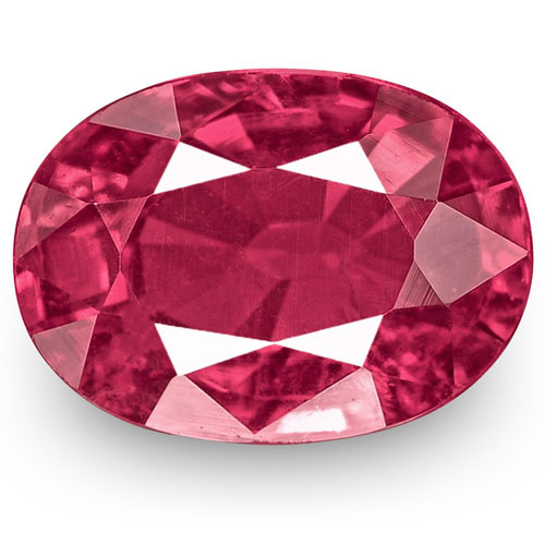 IGI Certified Mozambique Ruby, 1.31 Carats, Intense Pinkish Red Oval