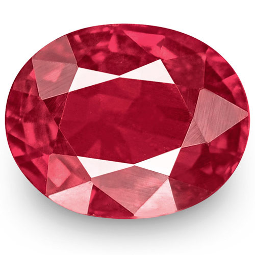 IGI Certified Mozambique Ruby, 1.01 Carats, Bright Red Oval