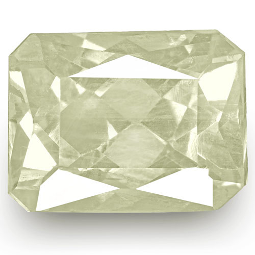GIA Certified Sri Lanka Colorless Sapphire, 12.18 Carats, Emerald Cut