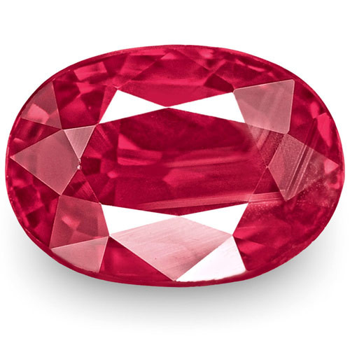 IGI Certified Mozambique Ruby, 1.15 Carats, Rich Pinkish Red Oval