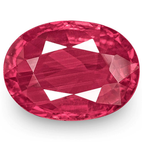 IGI Certified Mozambique Ruby, 1.16 Carats, Pinkish Red Oval
