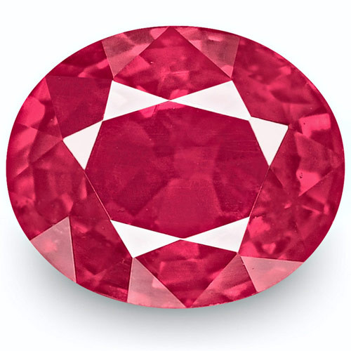 IGI Certified Mozambique Ruby, 1.01 Carats, Bright Pinkish Red Oval
