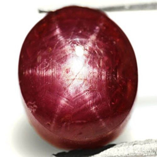 India Star Ruby, 4.93 Carats, Maroon Red Oval