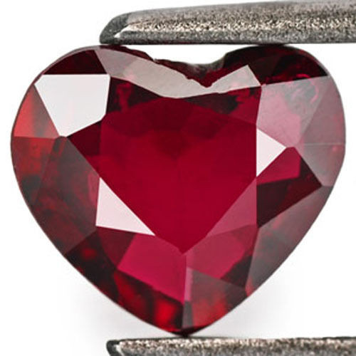 IGI Certified Mozambique Ruby, 0.89 Carats, Dark Red Heart