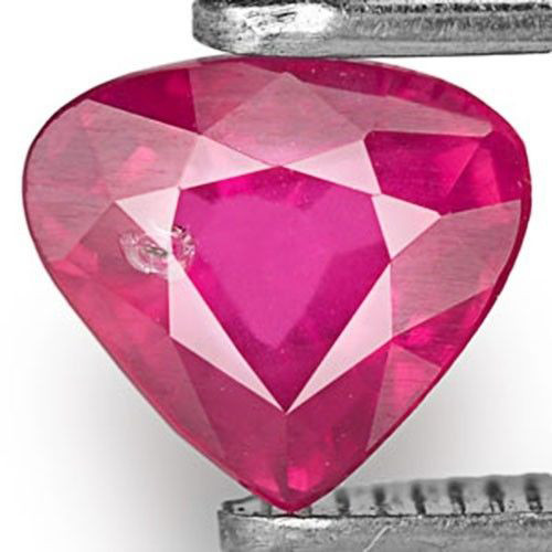 Mozambique Ruby, 0.77 Carats, Pinkish Red Heart
