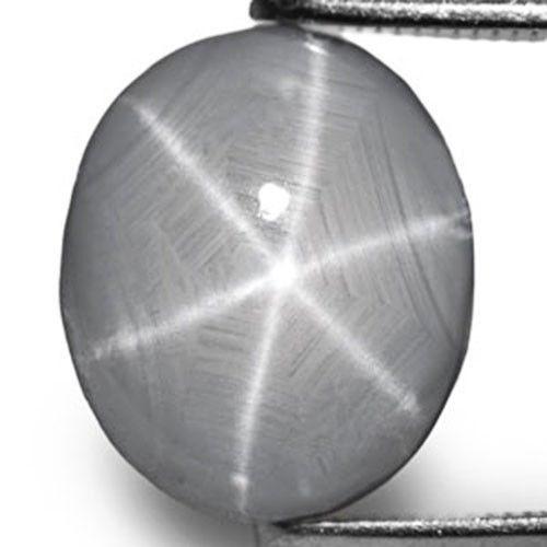 Sri Lanka Fancy Star Sapphire, 6.34 Carats, Intense Grey Oval