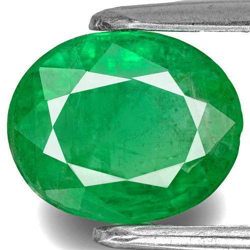 Zambia Emerald, 2.30 Carats, Intense Green Oval