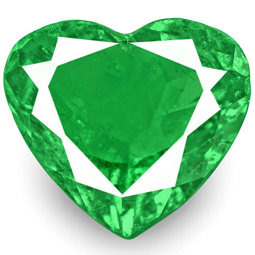 Colombia Emerald, 1.74 Carats, Bright Green Heart