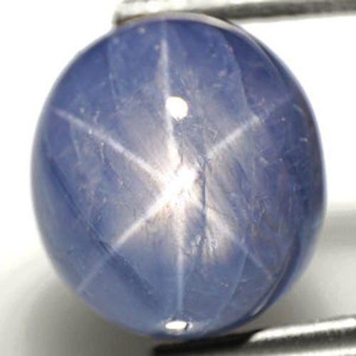 Burma Blue Star Sapphire, 7.93 Carats, Sky Blue Oval