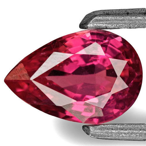 IGI Certified Burma Ruby, 0.62 Carats, Hot Pinkish Red Pear