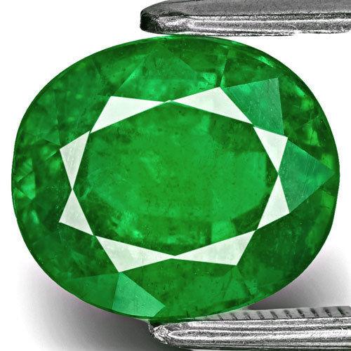 Zambia Emerald, 4.05 Carats, Fiery Velvet Green Oval