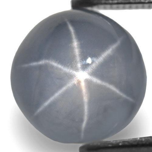 Sri Lanka Fancy Star Sapphire, 7.34 Carats, Bluish White Round