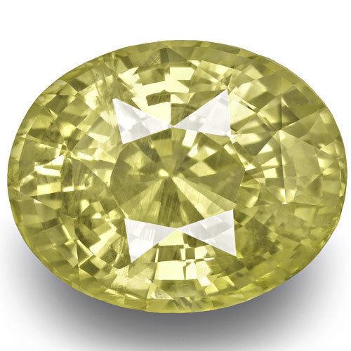 GIA Certified Sri Lanka Yellow Sapphire, 10.36 Carats, Medium Yellow Oval