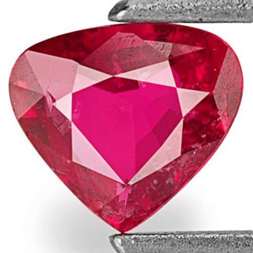Mozambique Ruby, 0.50 Carats, Pinkish Red Heart