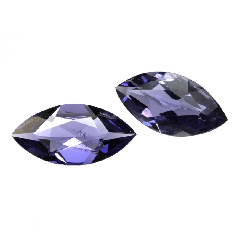 1.43cts Violetish/Blue Iolite Matching Marquise Cut