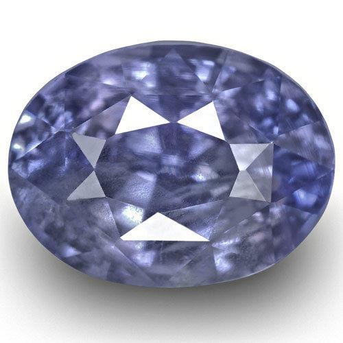 IGI Certified Sri Lanka Blue Sapphire, 2.51 Carats, Violetish Blue Oval