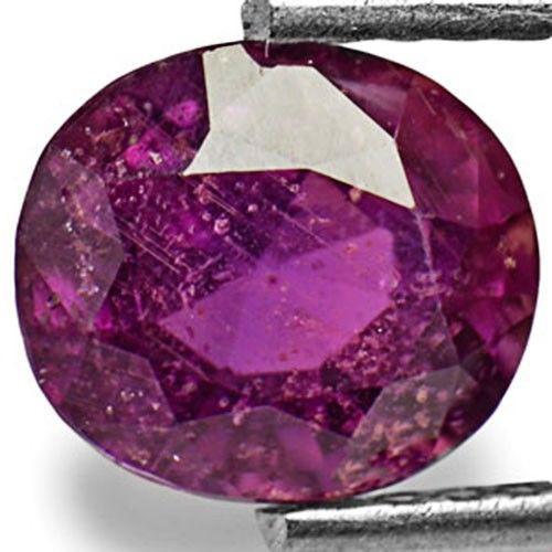 IGI Certified Burma Fancy Sapphire, 1.70 Carats, Deep Purple Oval