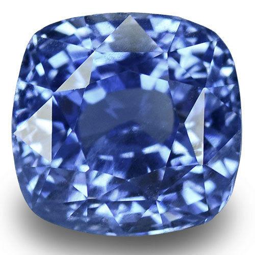 IGI Certified Burma Blue Sapphire, 5.24 Carats, Lustrous Blue Cushion