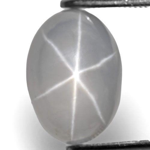 Sri Lanka Fancy Star Sapphire, 8.04 Carats, White / Colorless Oval