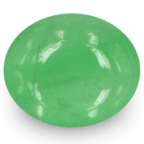 Colombia Emerald, 12.44 Carats, Medium Green Oval