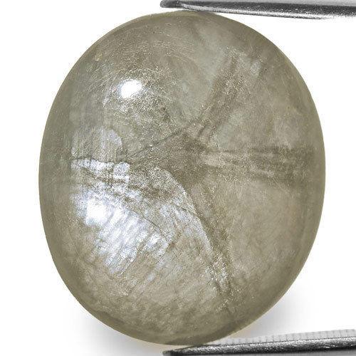 Burma Trapiche Sapphire, 25.11 Carats, Grey Oval