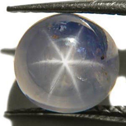 Burma Blue Star Sapphire, 3.41 Carats, Light Blue Round